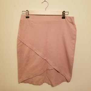 Blush pink tulip pencil skirt